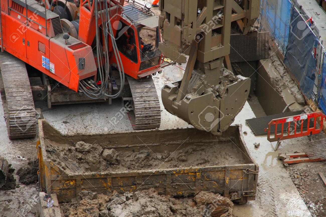 London UK 02/12/11 Construction on Crossrail Tunnel at Bond Street site. Stock Photo - 11366987