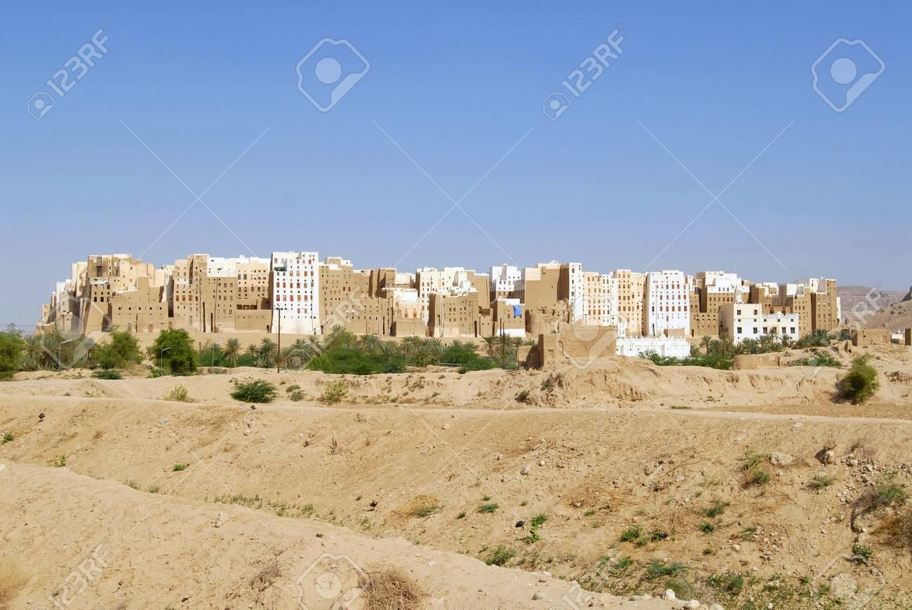 Case Di Mattoni Di Fango : L esterno della torre in mattoni di fango case di città di shibam