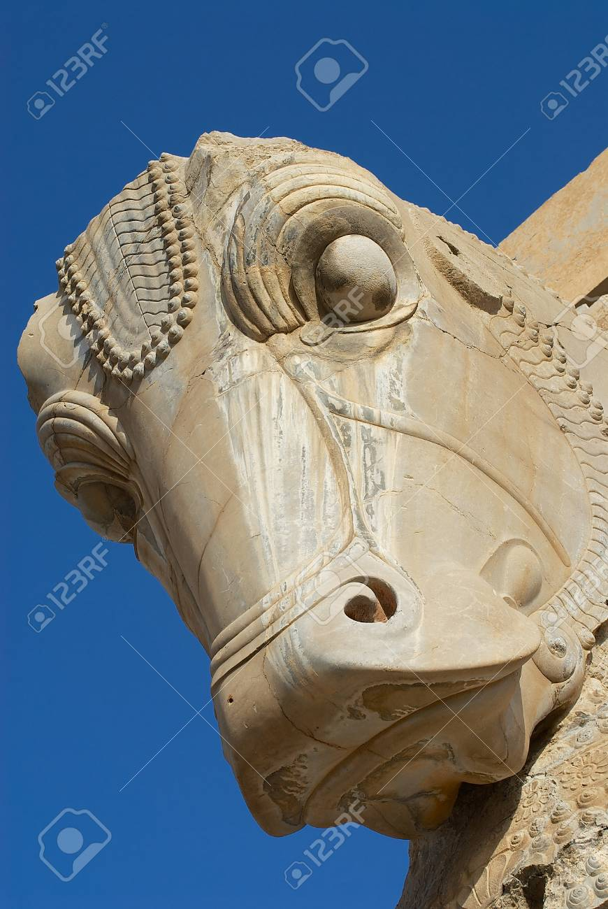 Head Of A Horse Statue In The Ancient City Of Persepolis Iran Stock Photo Picture And Royalty Free Image Image 87087621