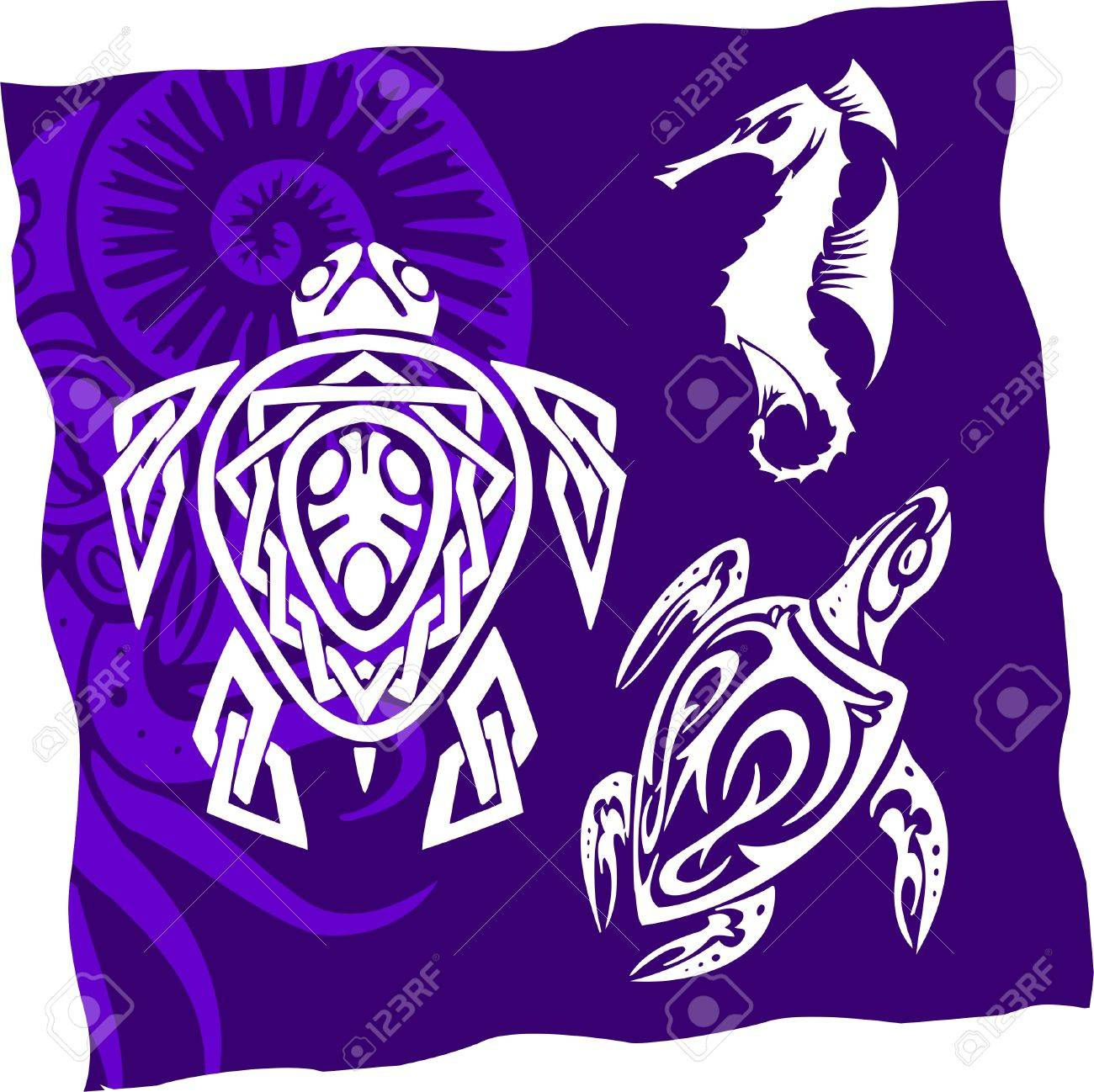 Tribal Water Monster.Vinyl Ready Stock Vector - 7322469