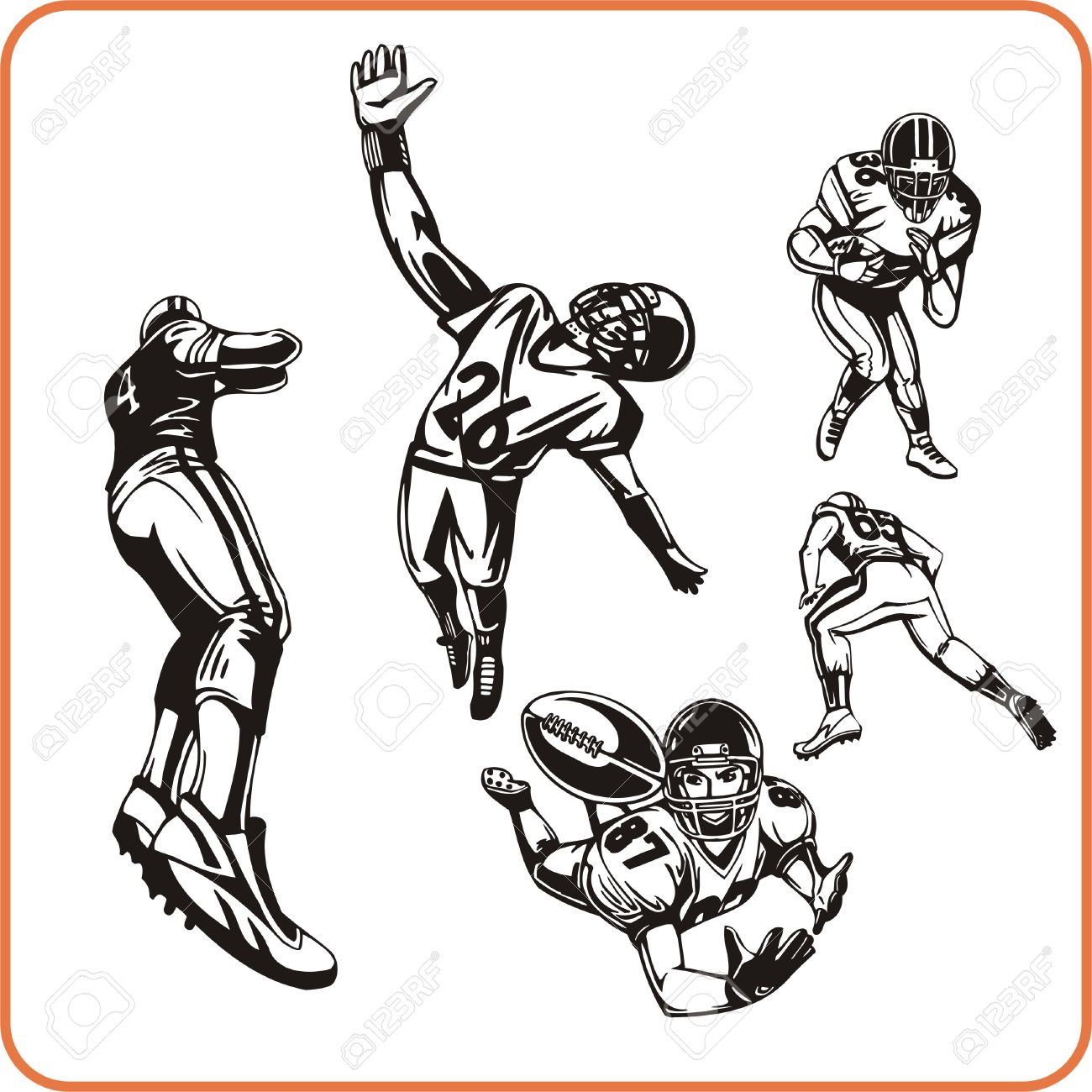 american football player vector illustration royalty free cliparts rh 123rf com american football vector logo american football vector free