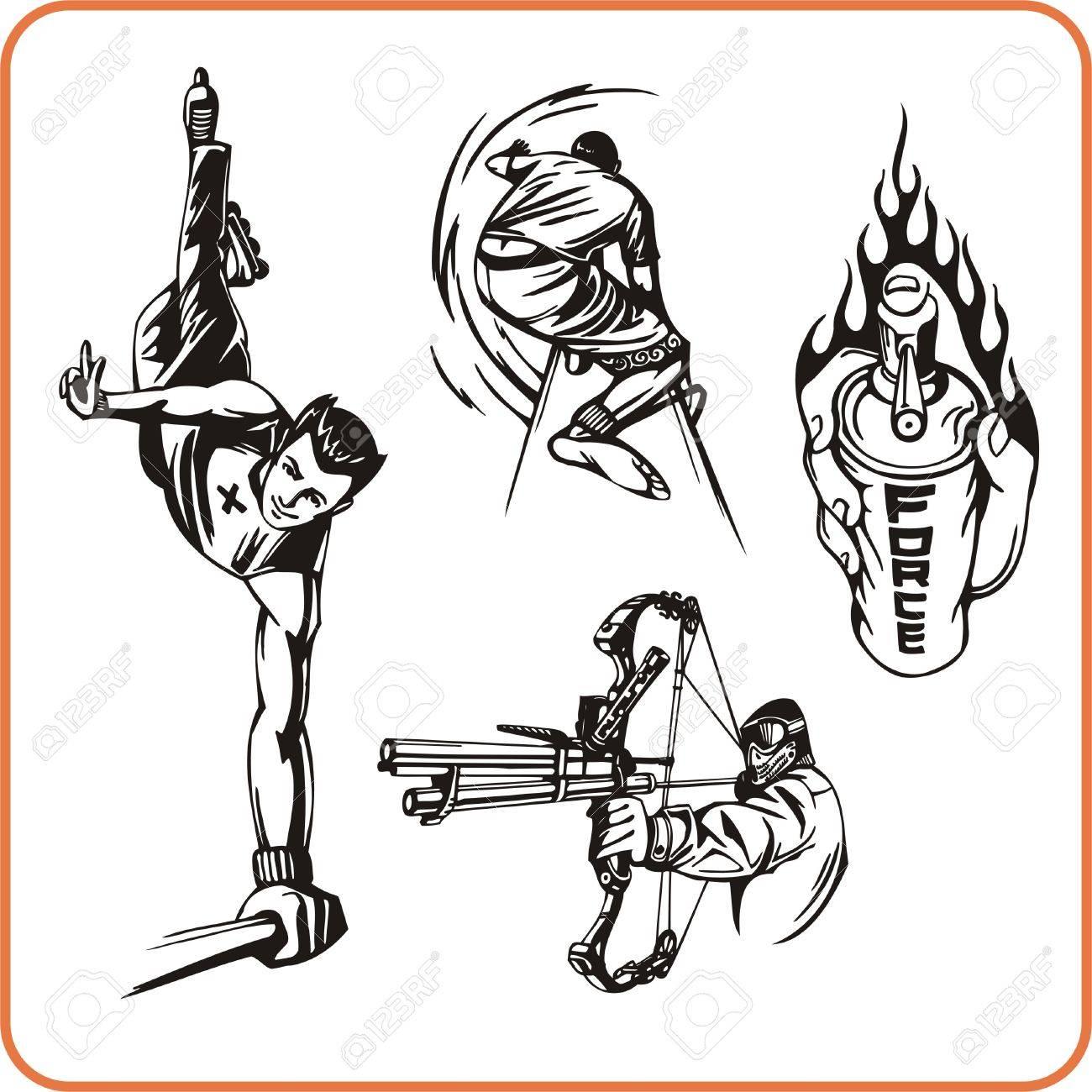 Extreme sport. Vector illustration. Vinyl-ready Stock Vector - 8070268