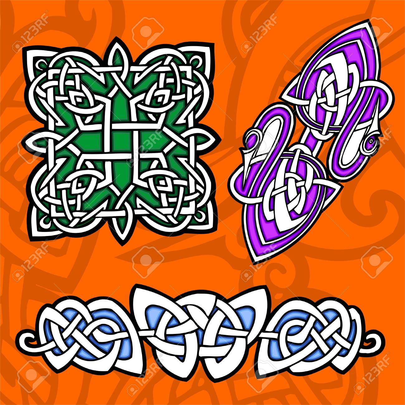Celtic ornamental design.  Illustration. Vinyl-Ready. Stock Vector - 8268902