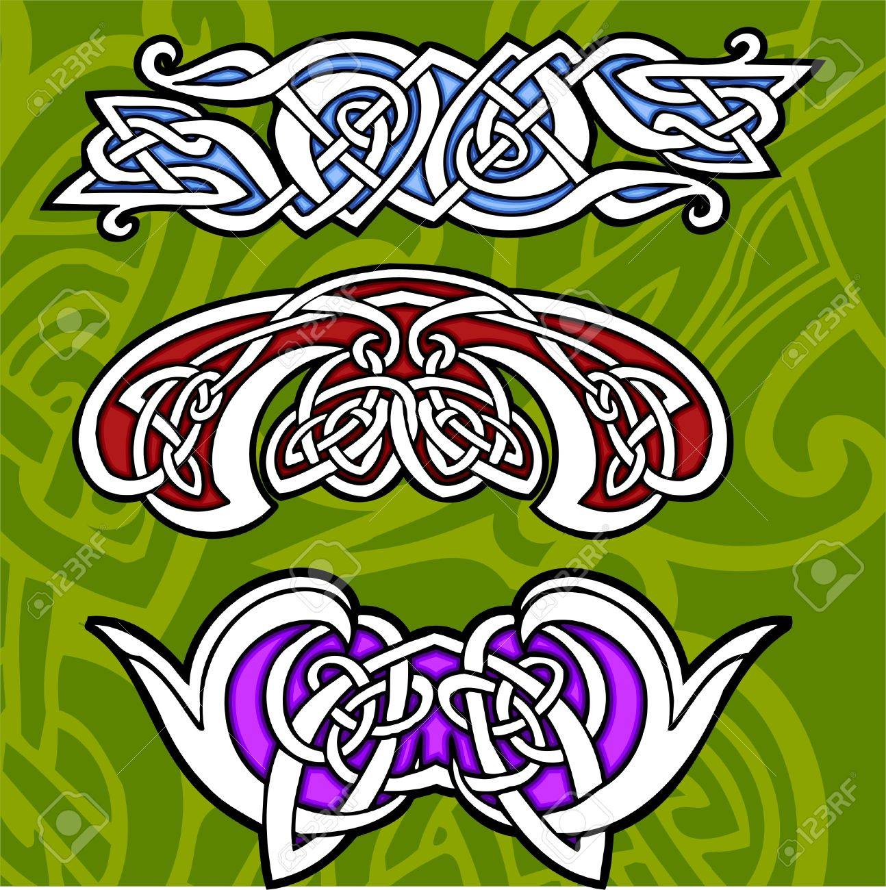Celtic ornamental design.  Illustration. Vinyl-Ready. Stock Vector - 8268930