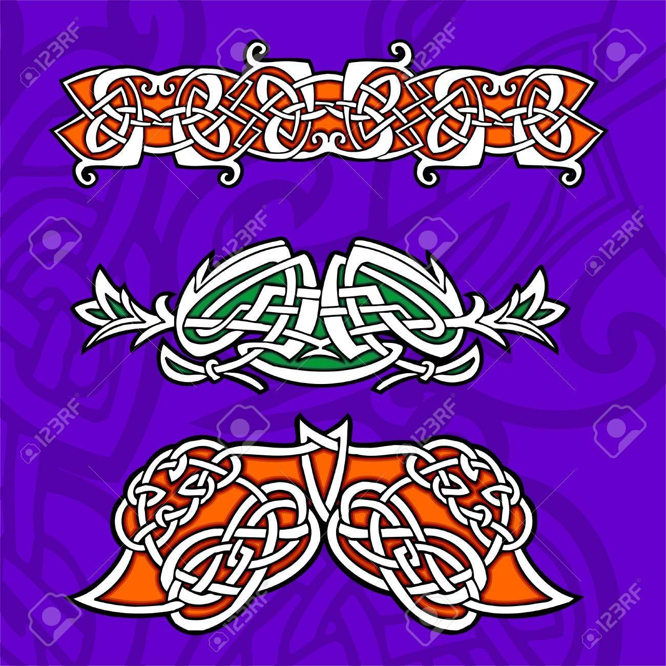 Celtic ornamental design  Illustration. Vinyl-Ready. Stock Vector - 8268887