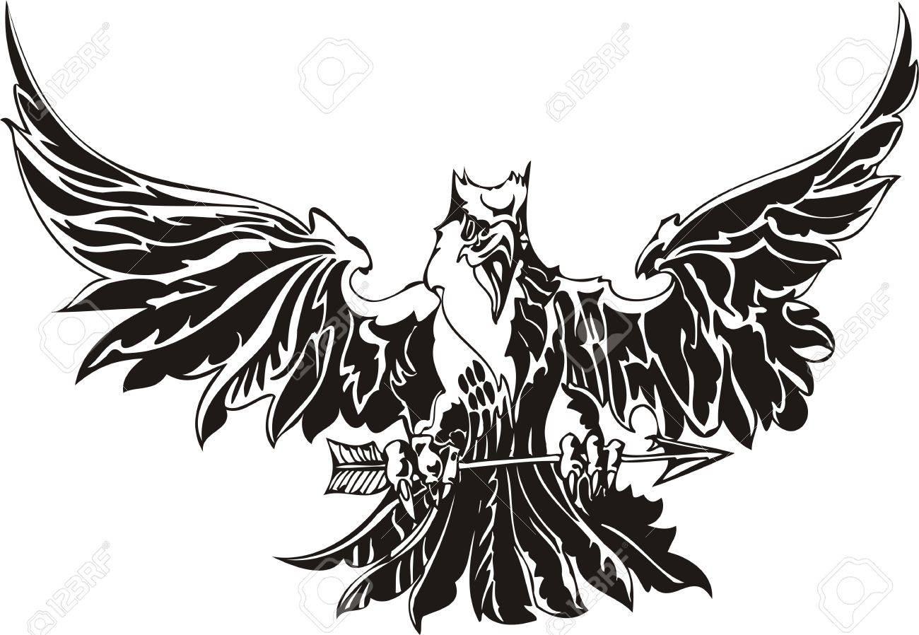 Eagle - predatory bird. illustration. Ready for vinyl cutting. Stock Vector - 8332263