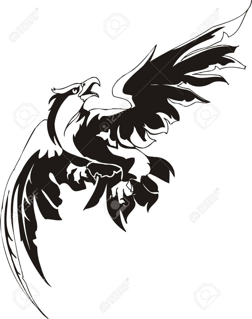 Eagle - predatory bird. illustration. Ready for vinyl cutting. Stock Vector - 8332285