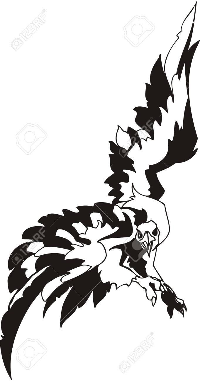 Eagle - predatory bird. illustration. Ready for vinyl cutting. Stock Vector - 8332276