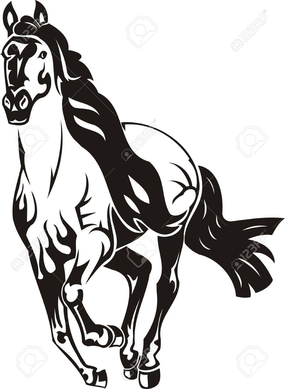 beautiful horse vector illustration ready for vinyl cutting royalty rh 123rf com horse vector free horse vector free