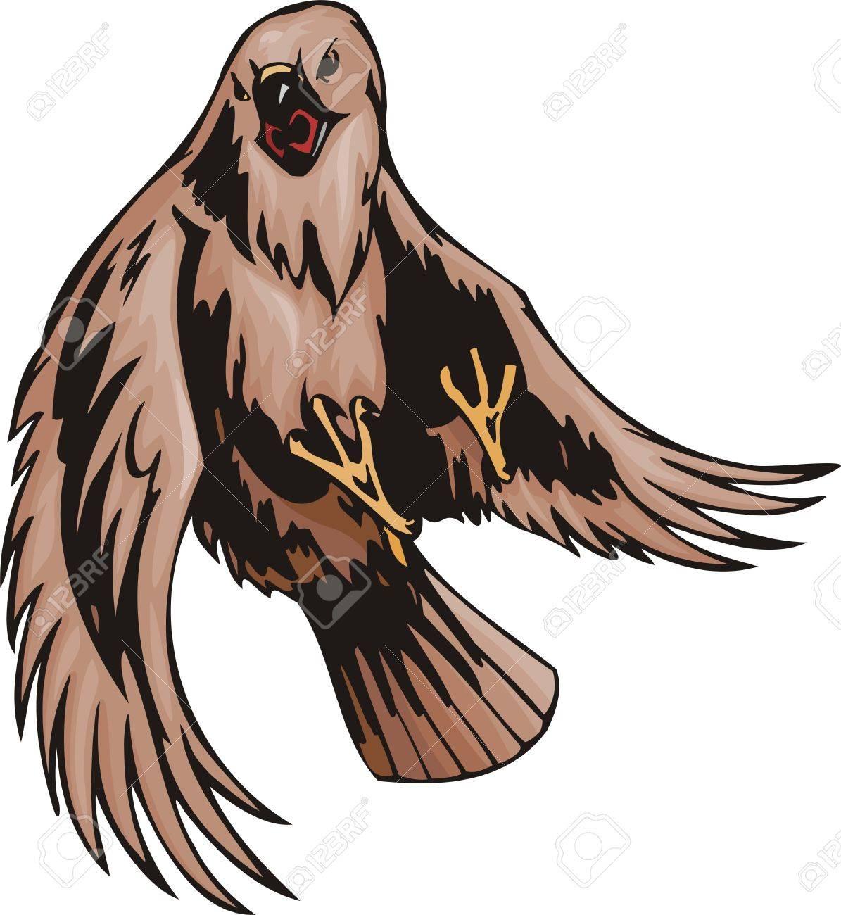 El Zopilote Con Plumaje Marrón Aves Predadoras Ilustración