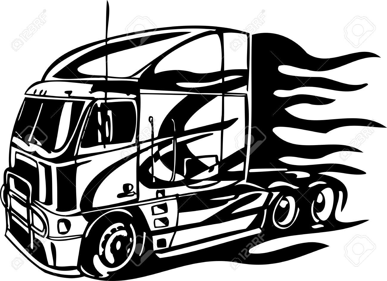 Contemporáneo Semi Camiones Para Colorear Imagen - Dibujos Para ...