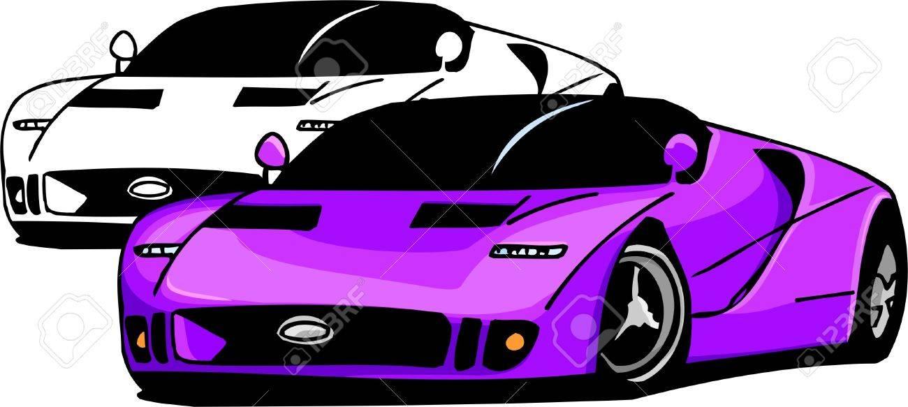 Sport Cars.  Illustration.Vinyl Ready. Stock Vector - 8682687
