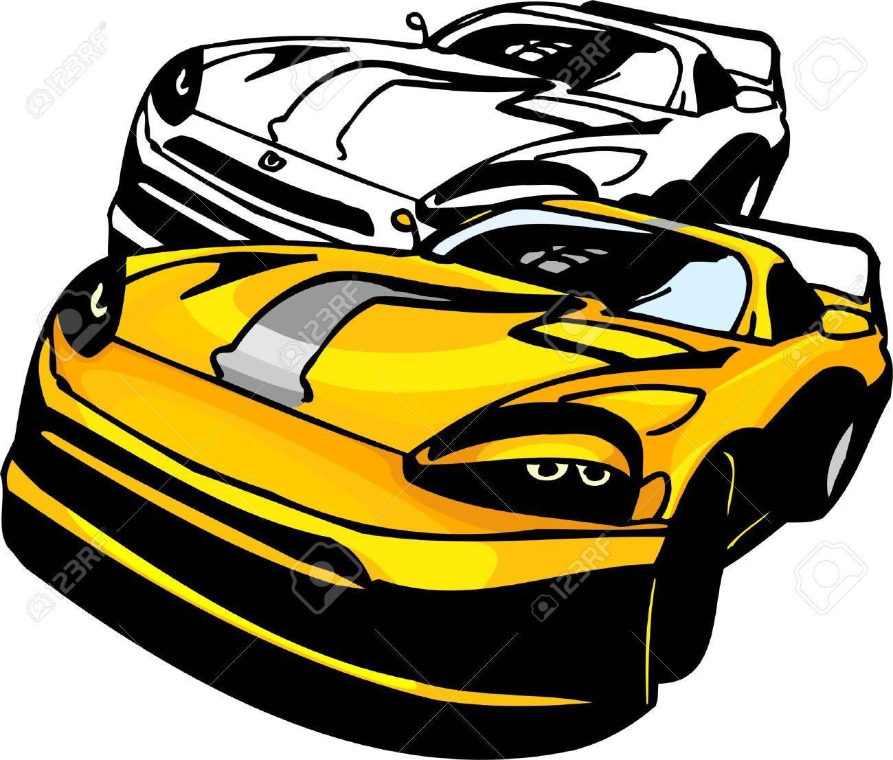 Sport Cars.  Illustration.Vinyl Ready. Stock Vector - 8682690