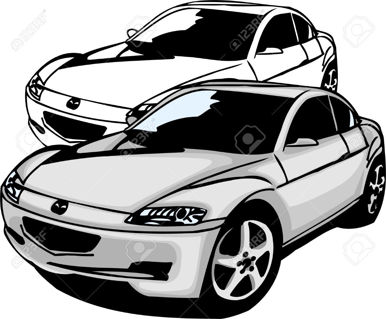 Sport Cars.  Illustration.Vinyl Ready. Stock Vector - 8682754