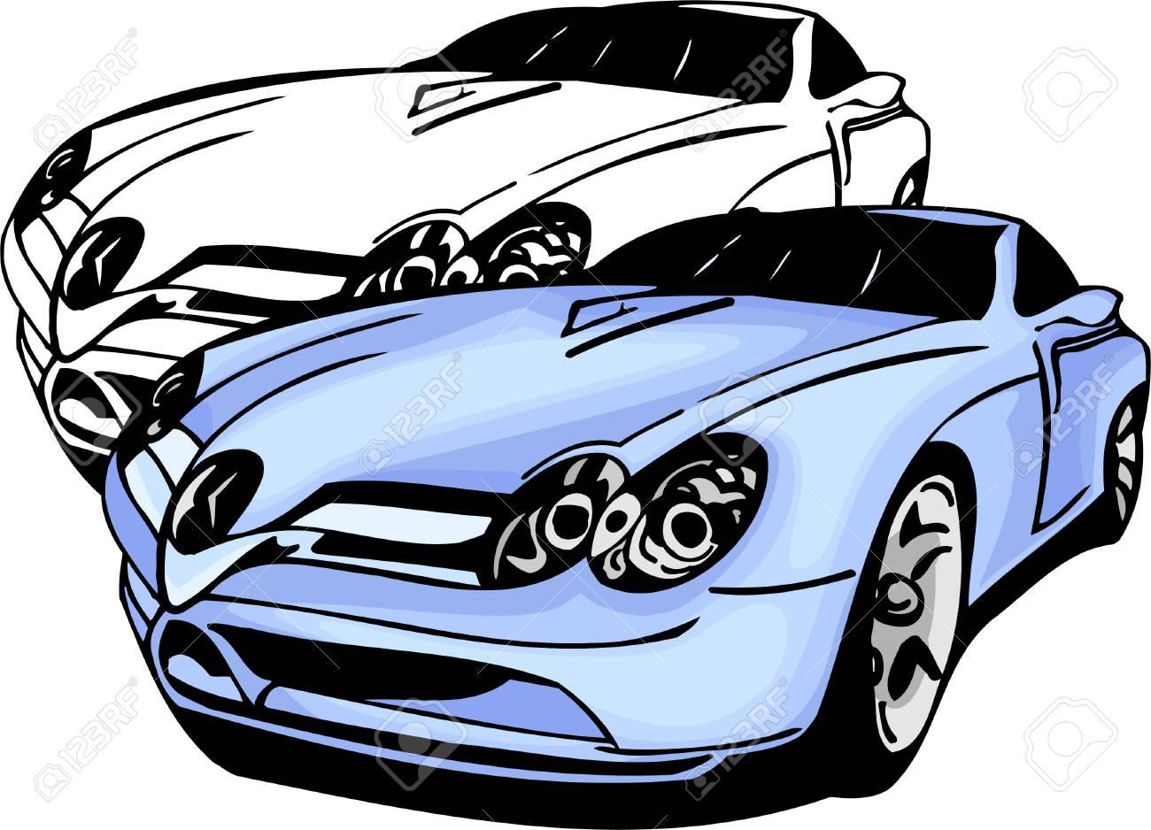 Sport Cars.  Illustration.Vinyl Ready. Stock Vector - 8682765