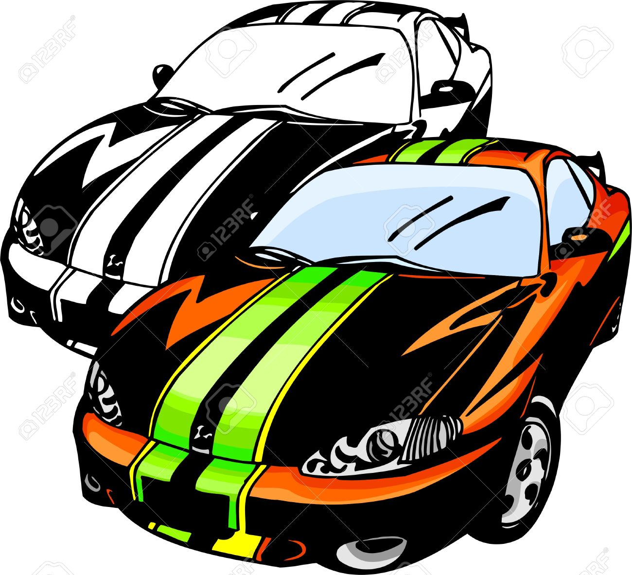 Sport Cars Illustration Vinyl Ready Royalty Free Cliparts Vectors And Stock Illustration Image 8682772