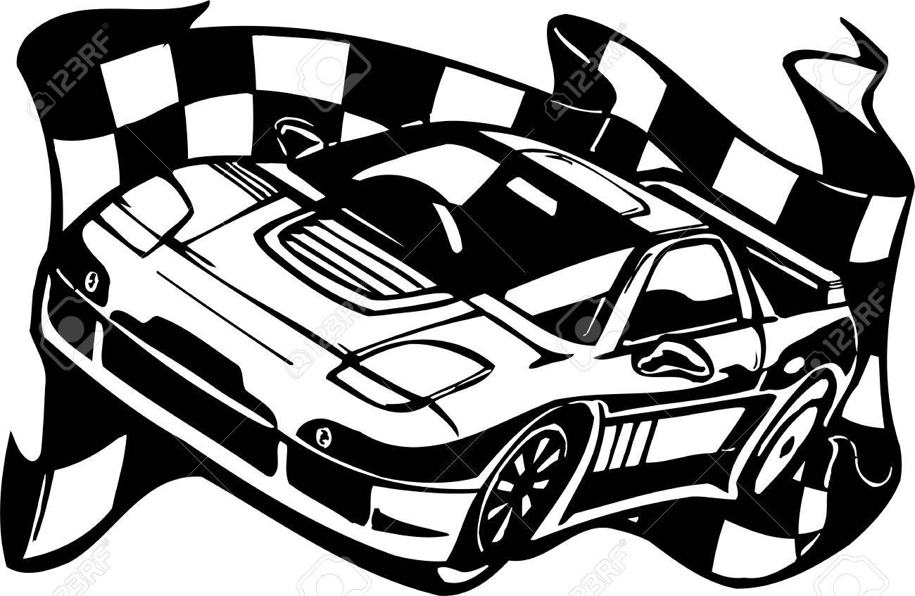 Street Racing Cars Illustration Ready For Vinyl Cutting Royalty Free Cliparts Vectors And Stock Illustration Image 8682421