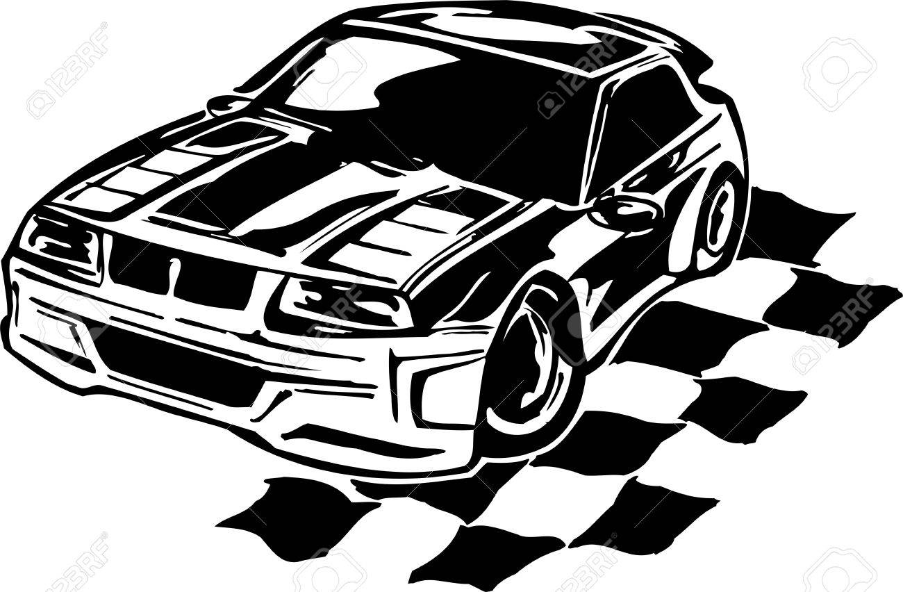 Street Racing Cars Illustration Ready For Vinyl Cutting Royalty Free Cliparts Vectors And Stock Illustration Image 8682585