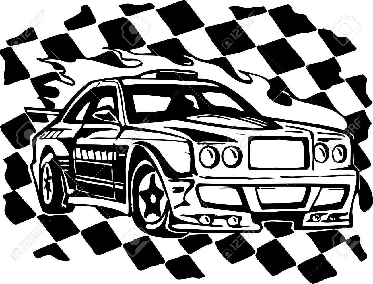 Street Racing Cars Illustration Ready For Vinyl Cutting Royalty Free Cliparts Vectors And Stock Illustration Image 8682375