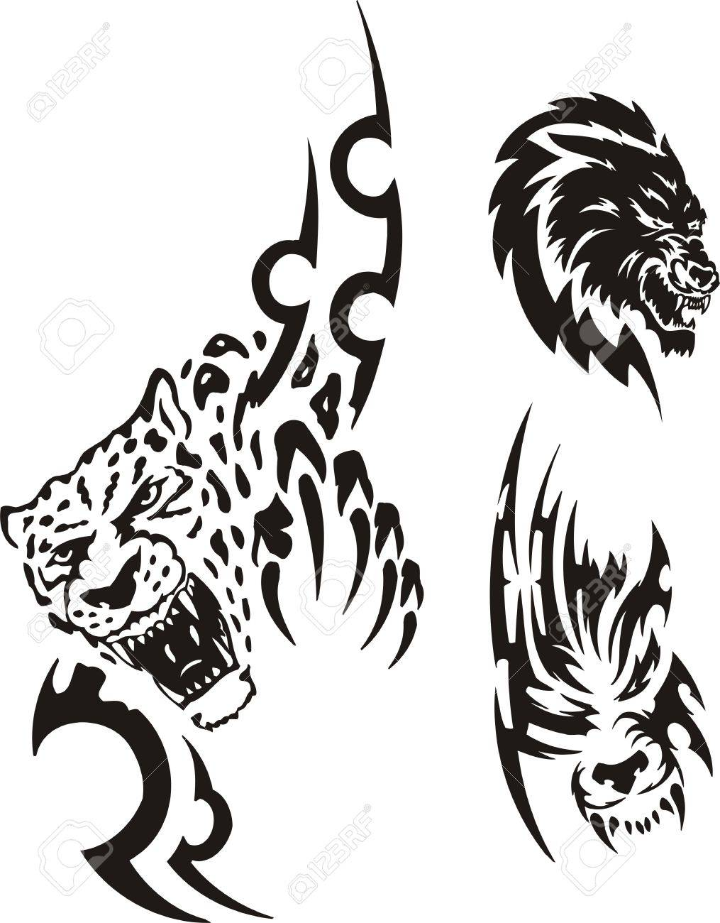 Panther outline tattoo