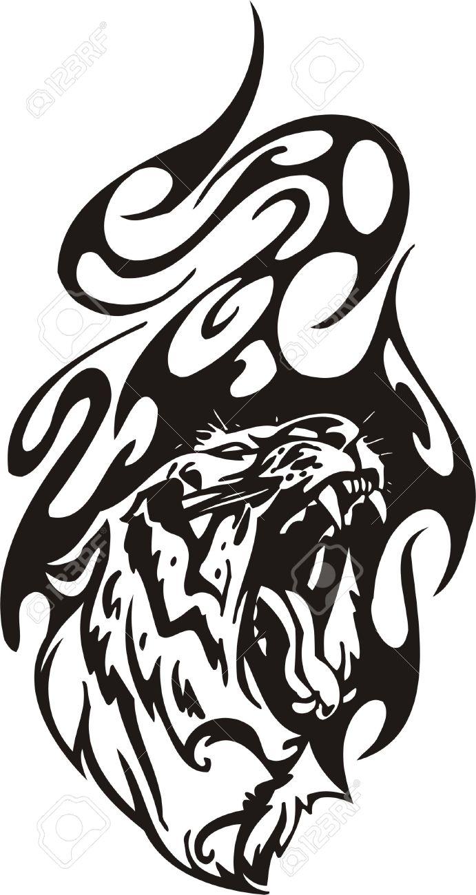 Tribal Predators Vector illustration ready for vinyl cutting