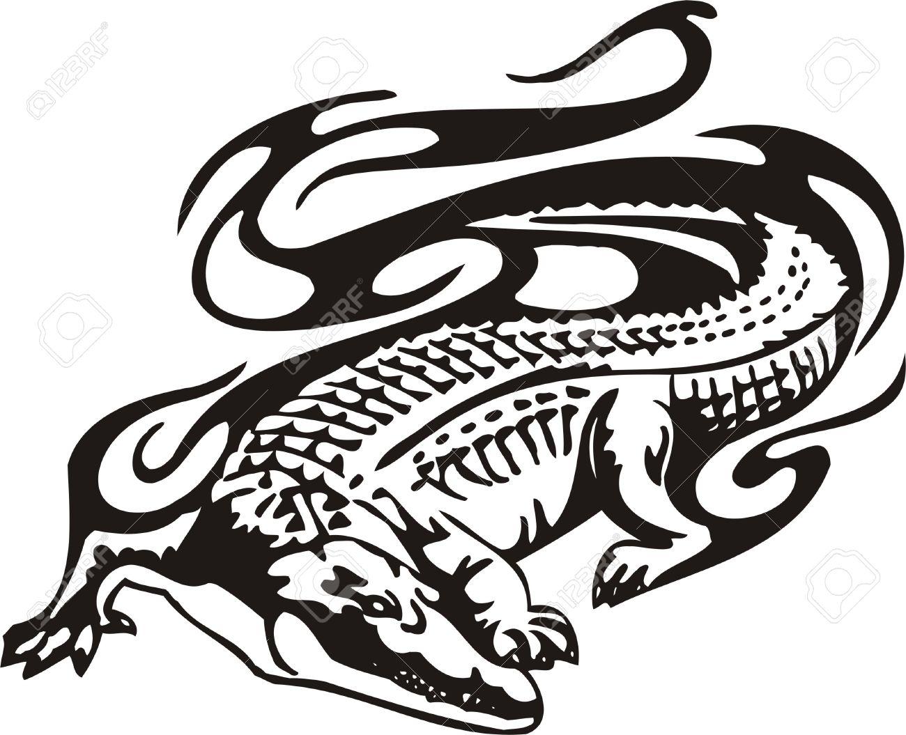 Эскизы крокодилов для тату
