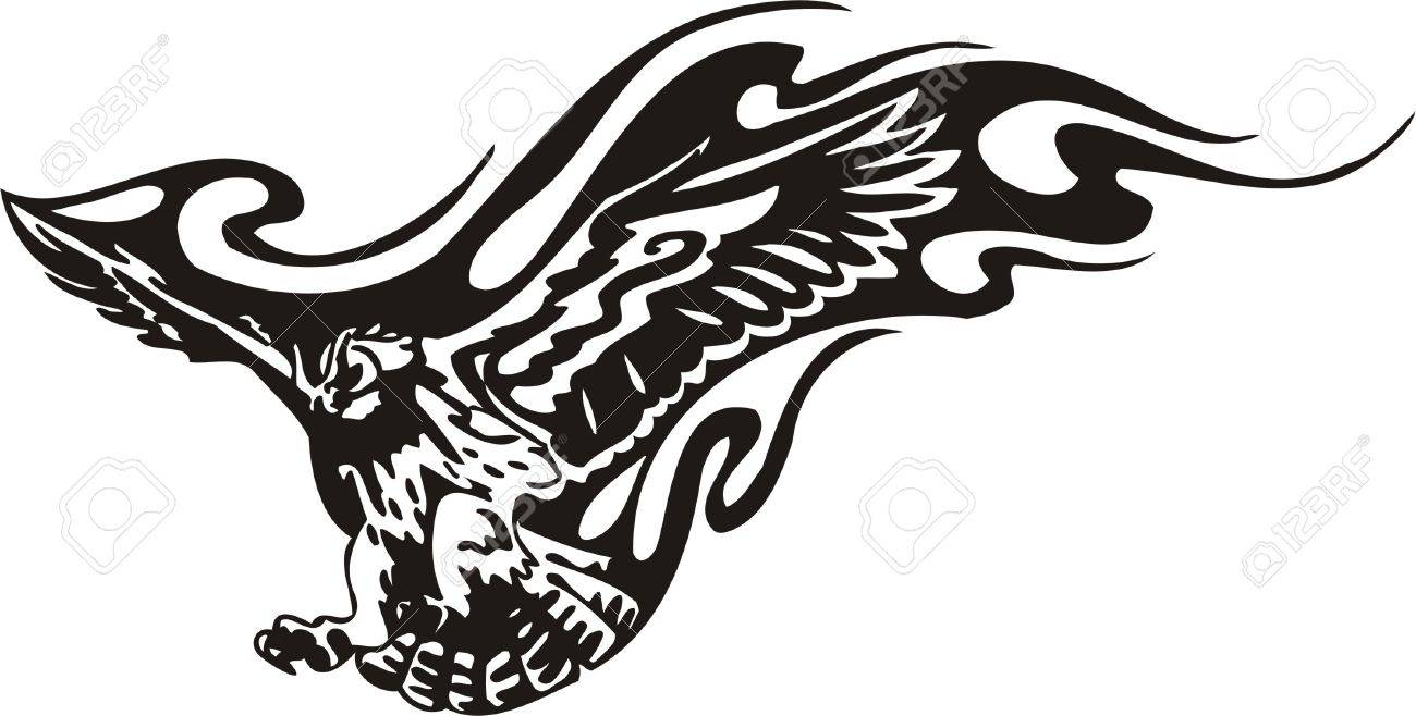 Tribal Predators.Vector illustration ready for vinyl cutting. Stock Vector - 8759550