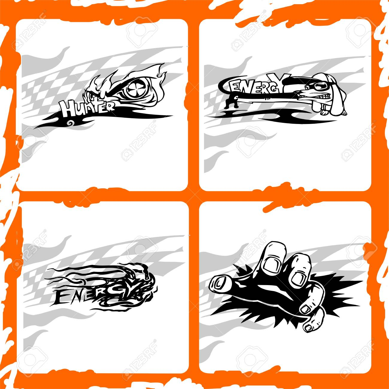 Trucks Graphics.Vector illustration ready for vinyl cutting. Stock Vector - 8759121