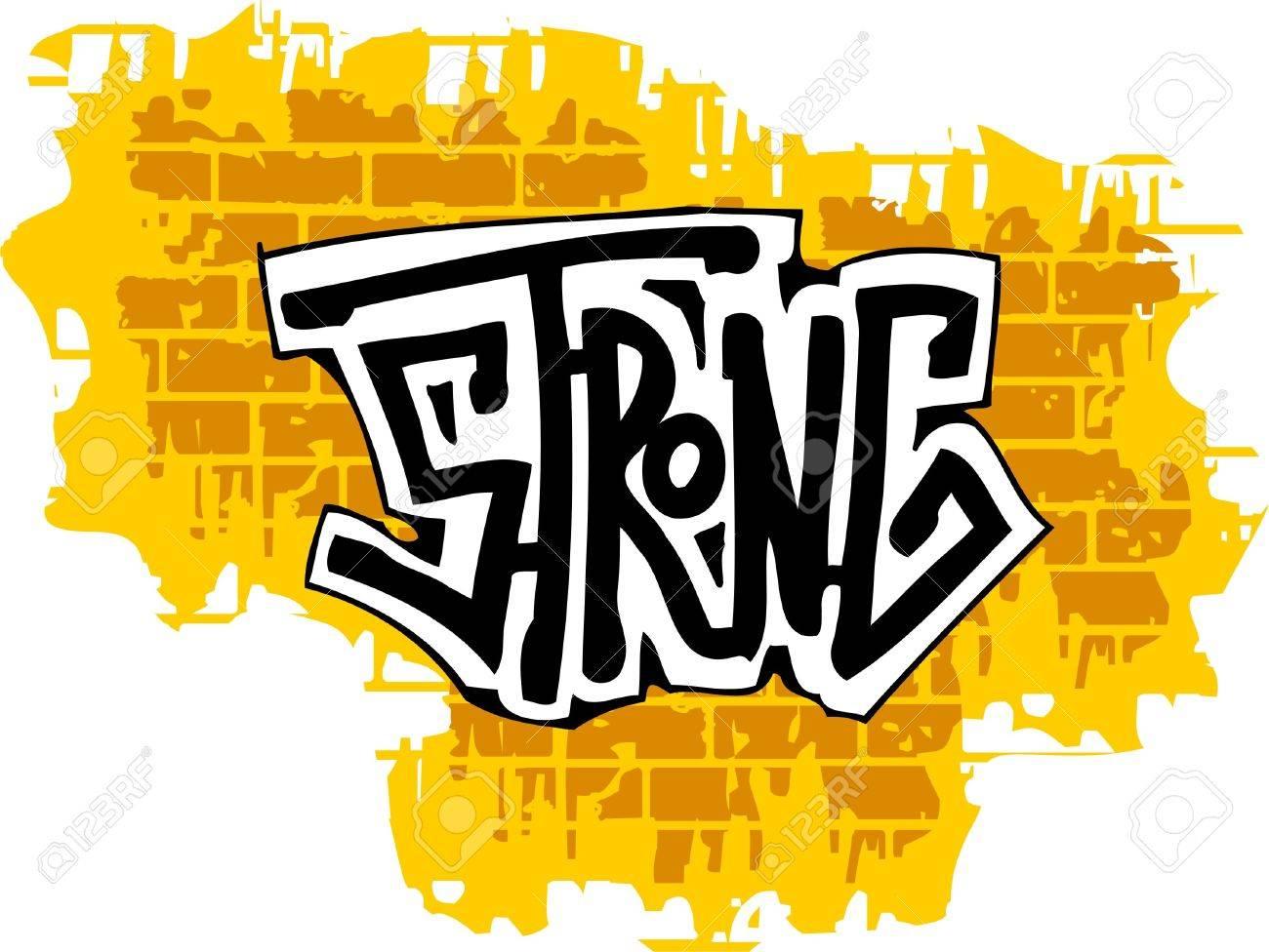 Graffiti wall clipart - Graffiti Brick Wall And Inscription Vector Illustration Vinyl Ready Stock Vector