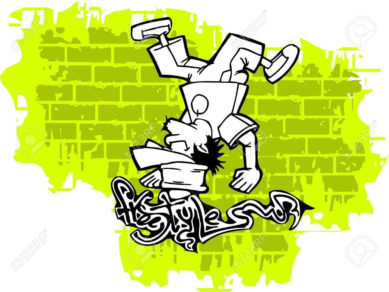 Graffiti wall clipart - Graffiti Vector Illustration Vinyl Ready Stock Vector 8759168