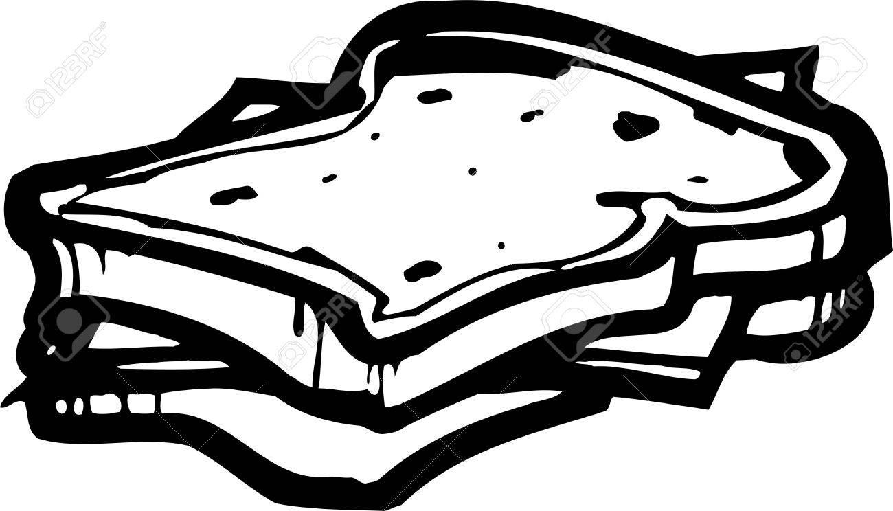 Sandwich.FastFood.Vector illustration ready for vinyl cutting. Stock Vector - 8759028