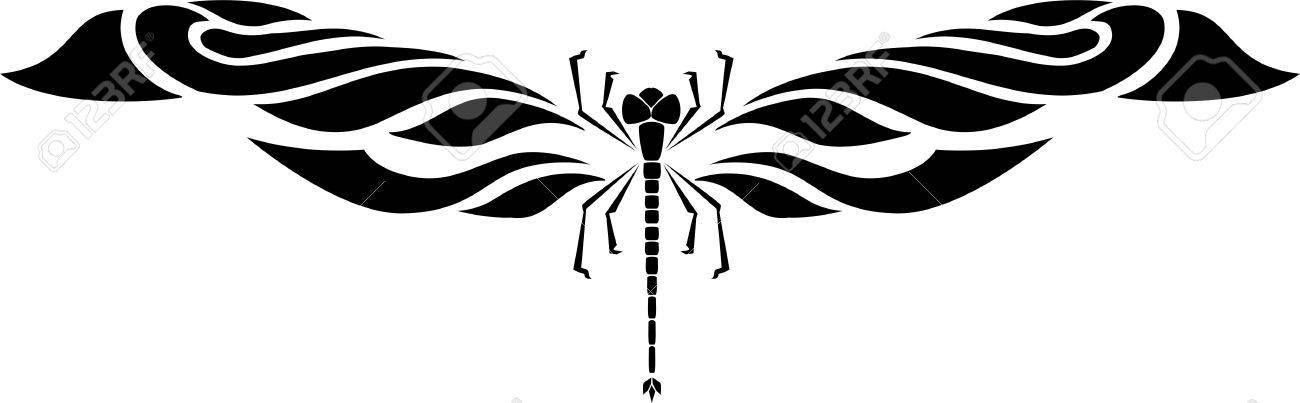 dragonfly vector illustration ready for vinyl cutting royalty free rh 123rf com dragonfly vector free dragonfly vector format