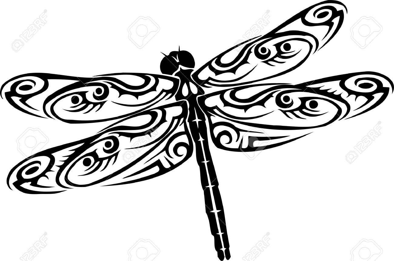 dragonfly vector illustration ready for vinyl cutting royalty rh 123rf com dragonfly vector free dragonfly vector free download