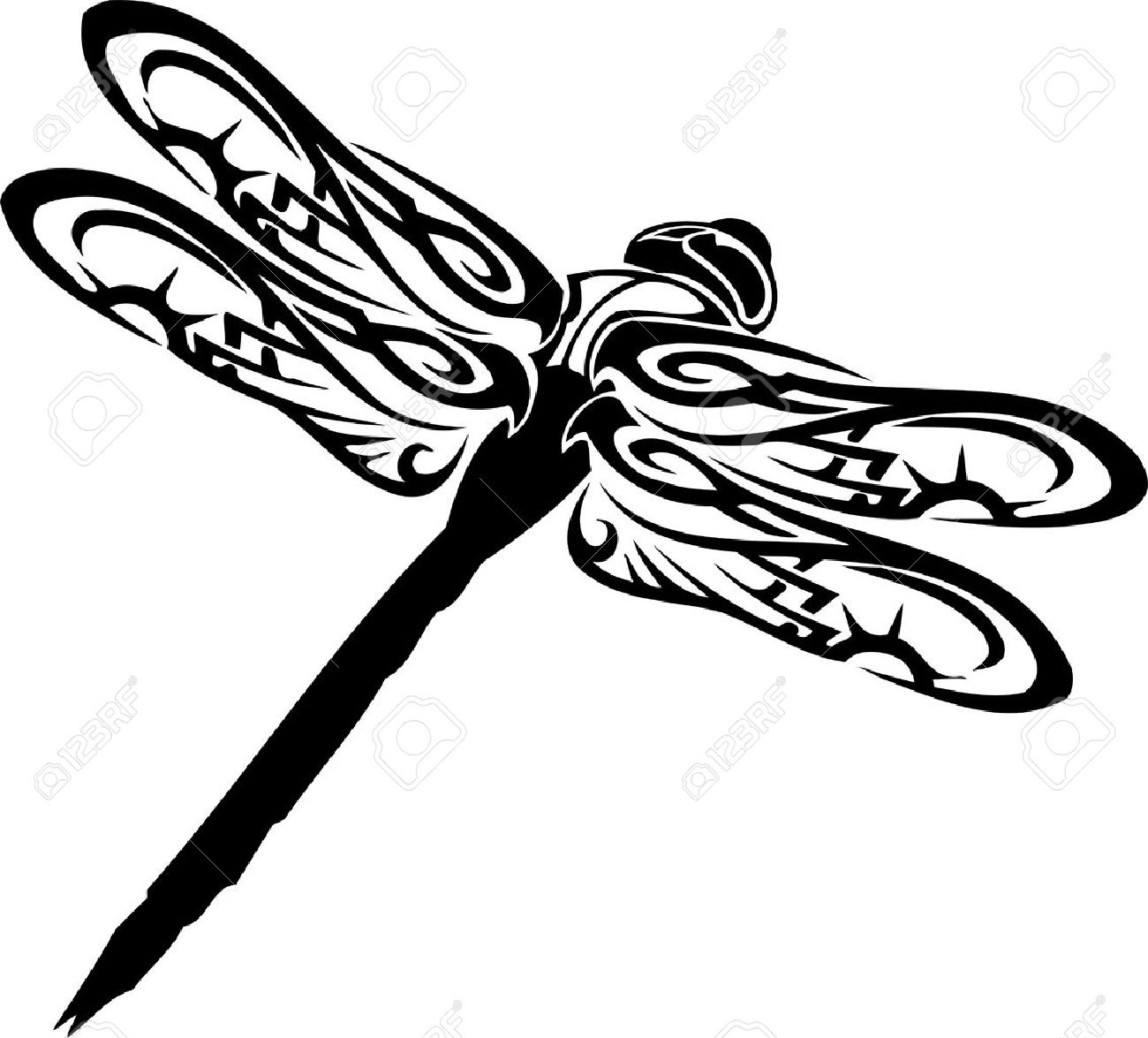 dragonfly vector illustration ready for vinyl cutting royalty free rh 123rf com dragonfly vector free download dragonfly vector format