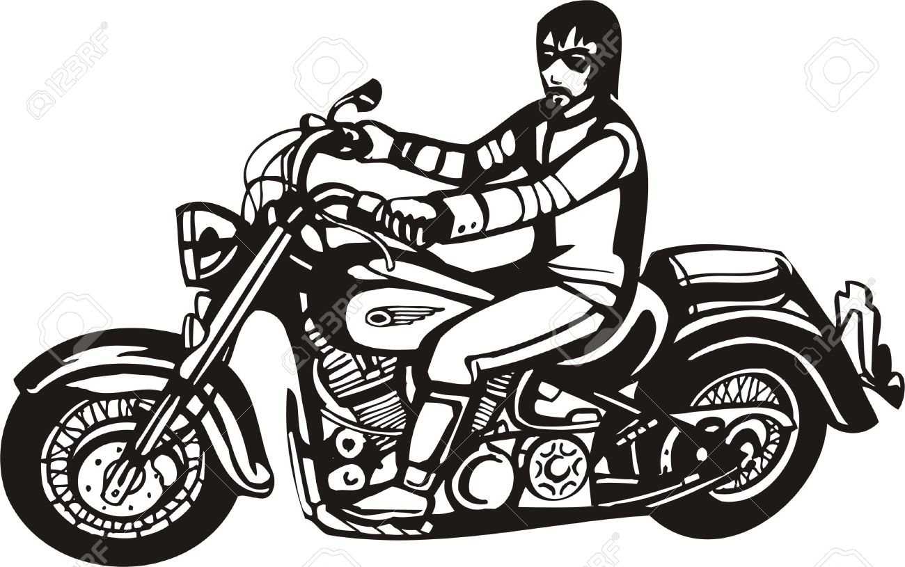 biker on motorcycle vector illustration royalty free cliparts rh 123rf com indian motorcycle vector art indian motorcycle vector art