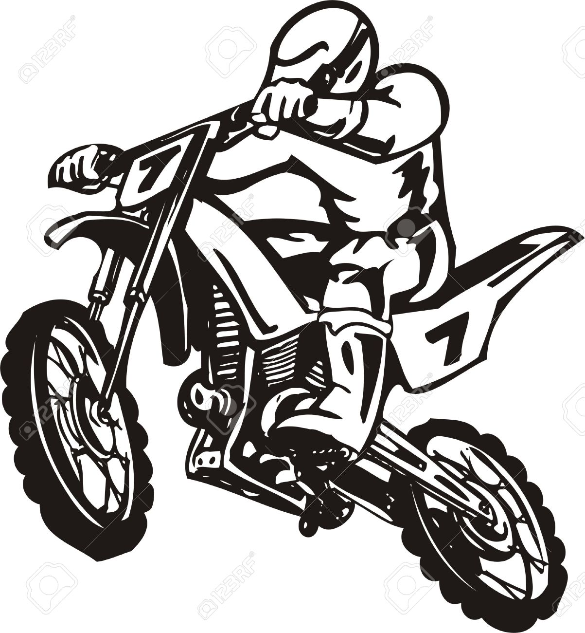 biker on motorcycle vector illustration royalty free cliparts rh 123rf com motorcycle vector images free motorcycle vector illustration