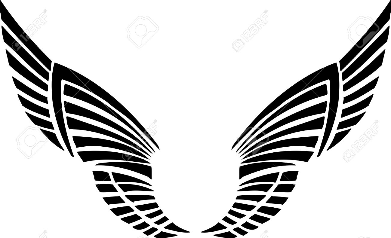 Wings Vector illustration  Eagle Wings Vector