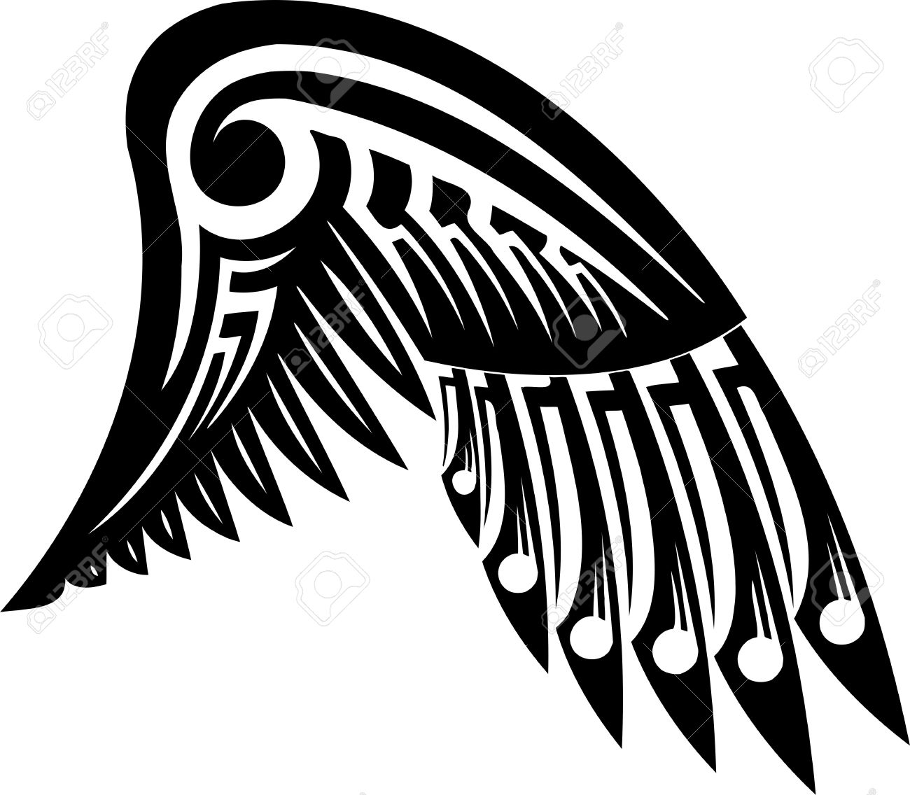 wings vector illustration ready for vinyl cutting royalty free rh 123rf com angel wings vector free angel wing vector free download