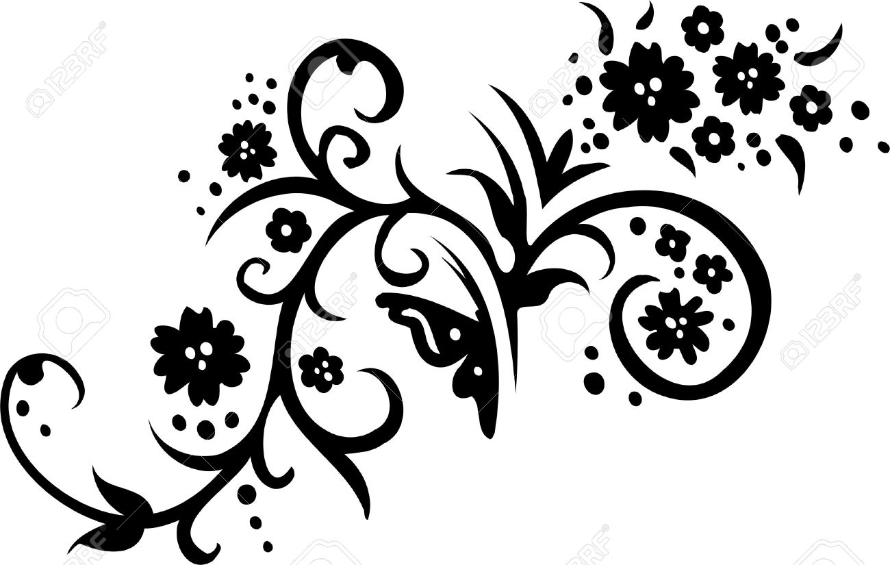 Floral Design Element - Vinyl-ready vector image! Stock Vector - 11664409