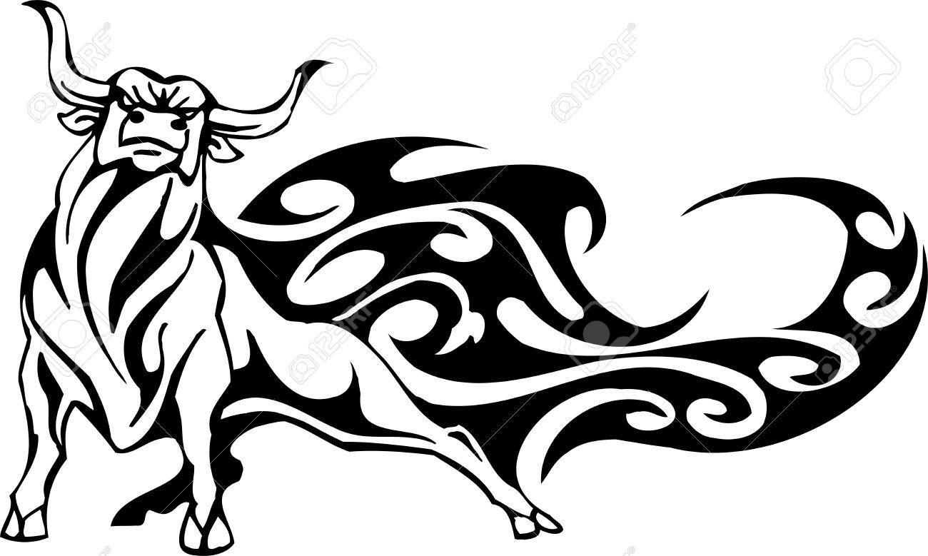 bull in tribal style vector image royalty free cliparts vectors rh 123rf com ball vector bill vectorsp