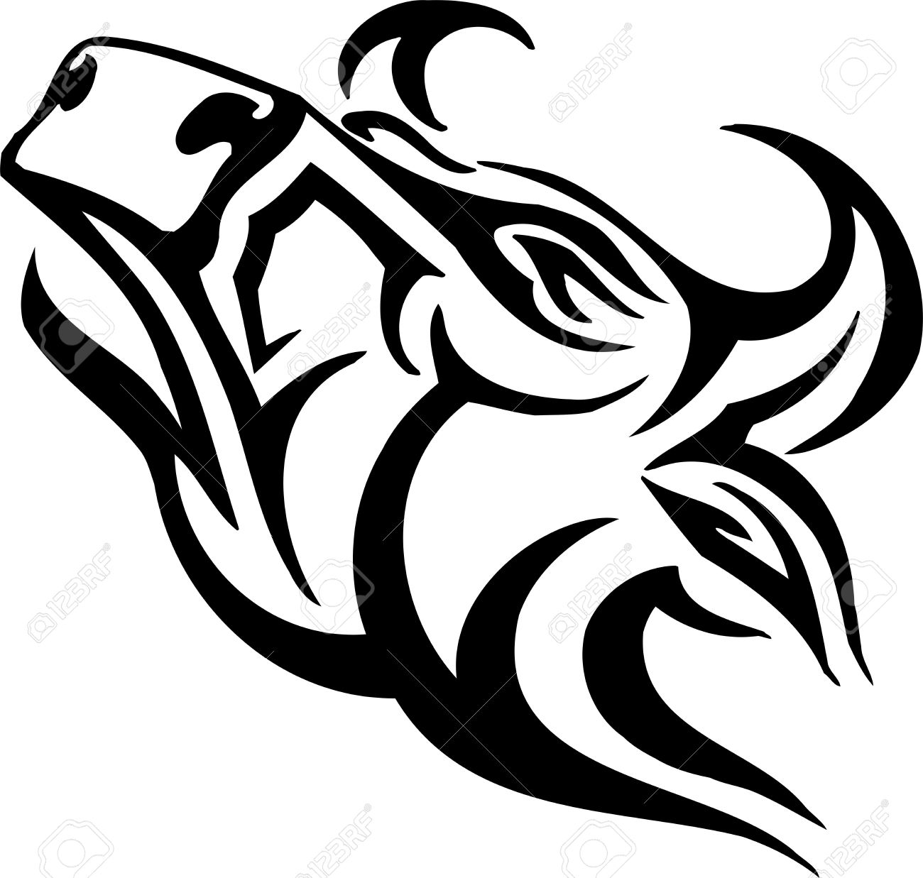 Bull in tribal style - vector image. Stock Vector - 12489682
