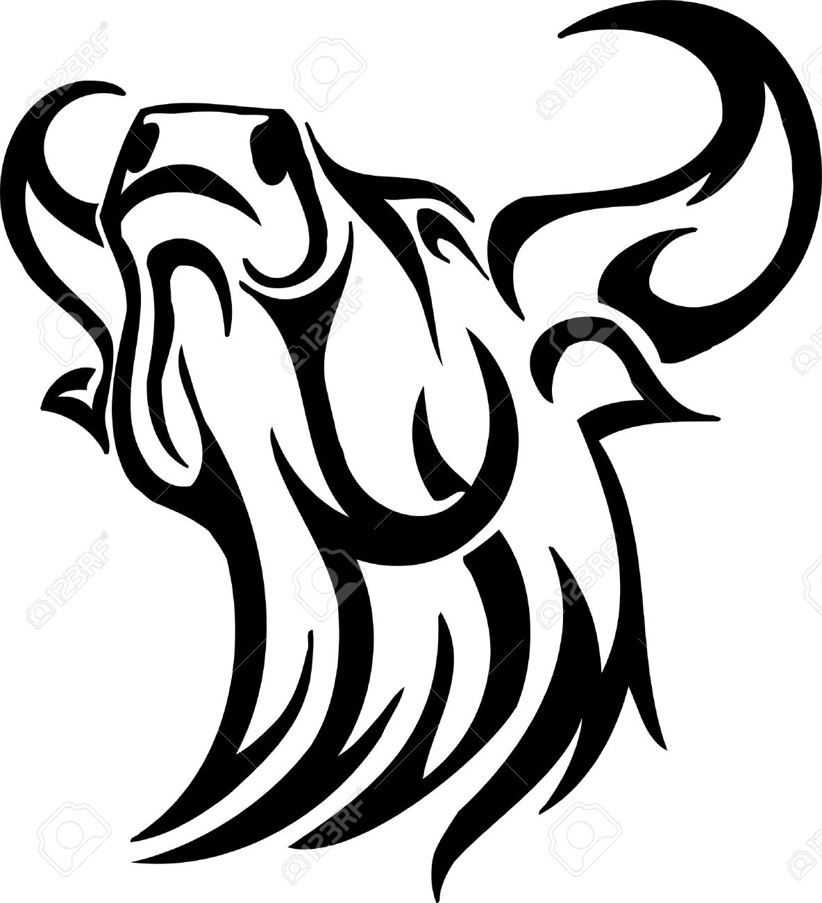 Bull in tribal style - vector image. Stock Vector - 12490547