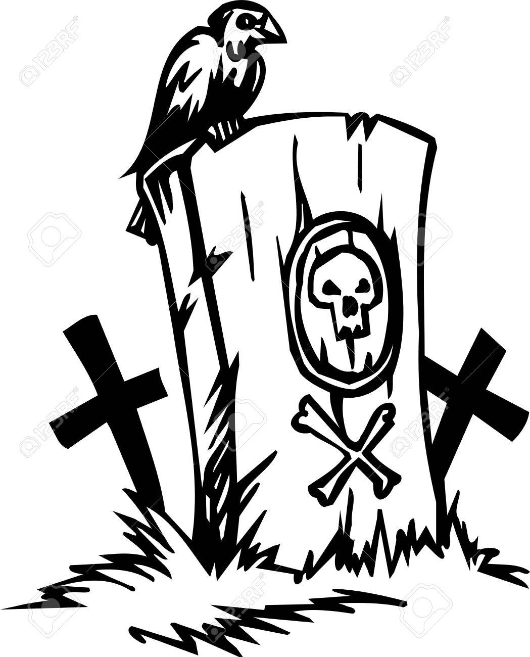 Grave - Halloween Set - vector illustration Stock Vector - 12491035