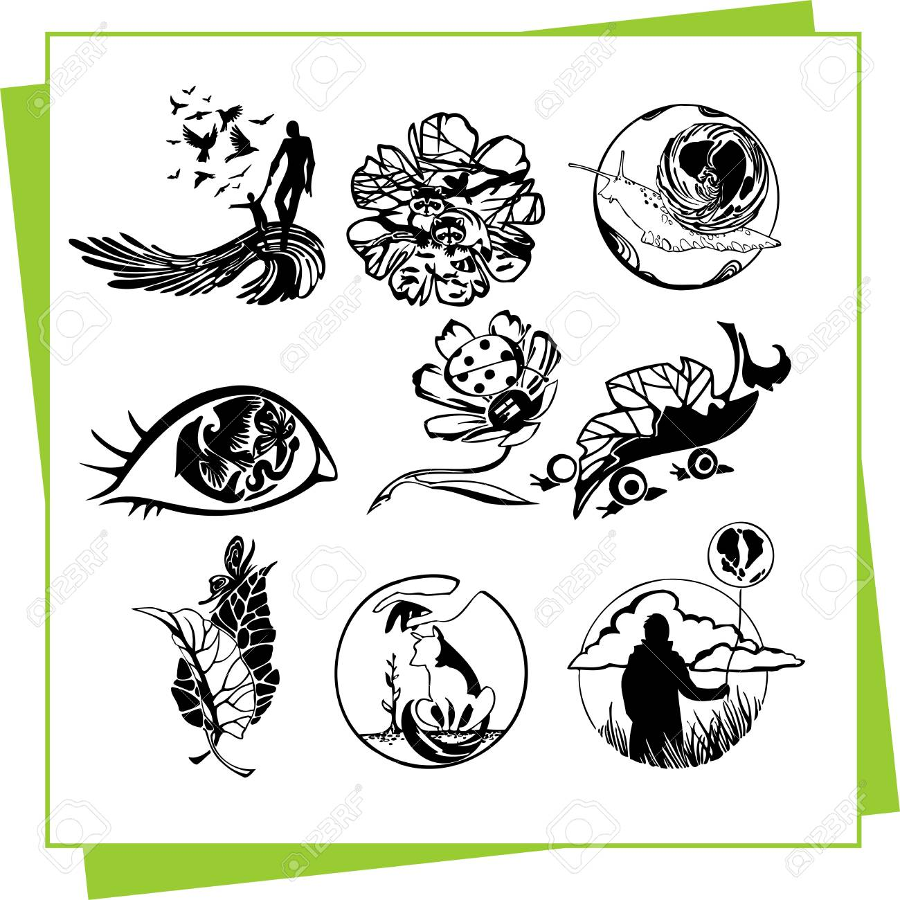 Eco Design Elements and Icons Stock Vector - 17011078