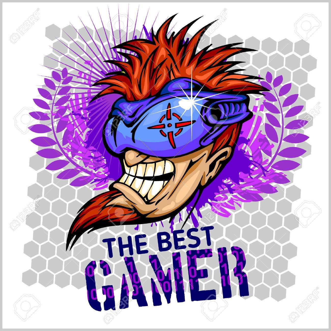 Design t shirt vector - The Best Gamer Emblem For T Shirt Vector Design Stock Vector 36932067