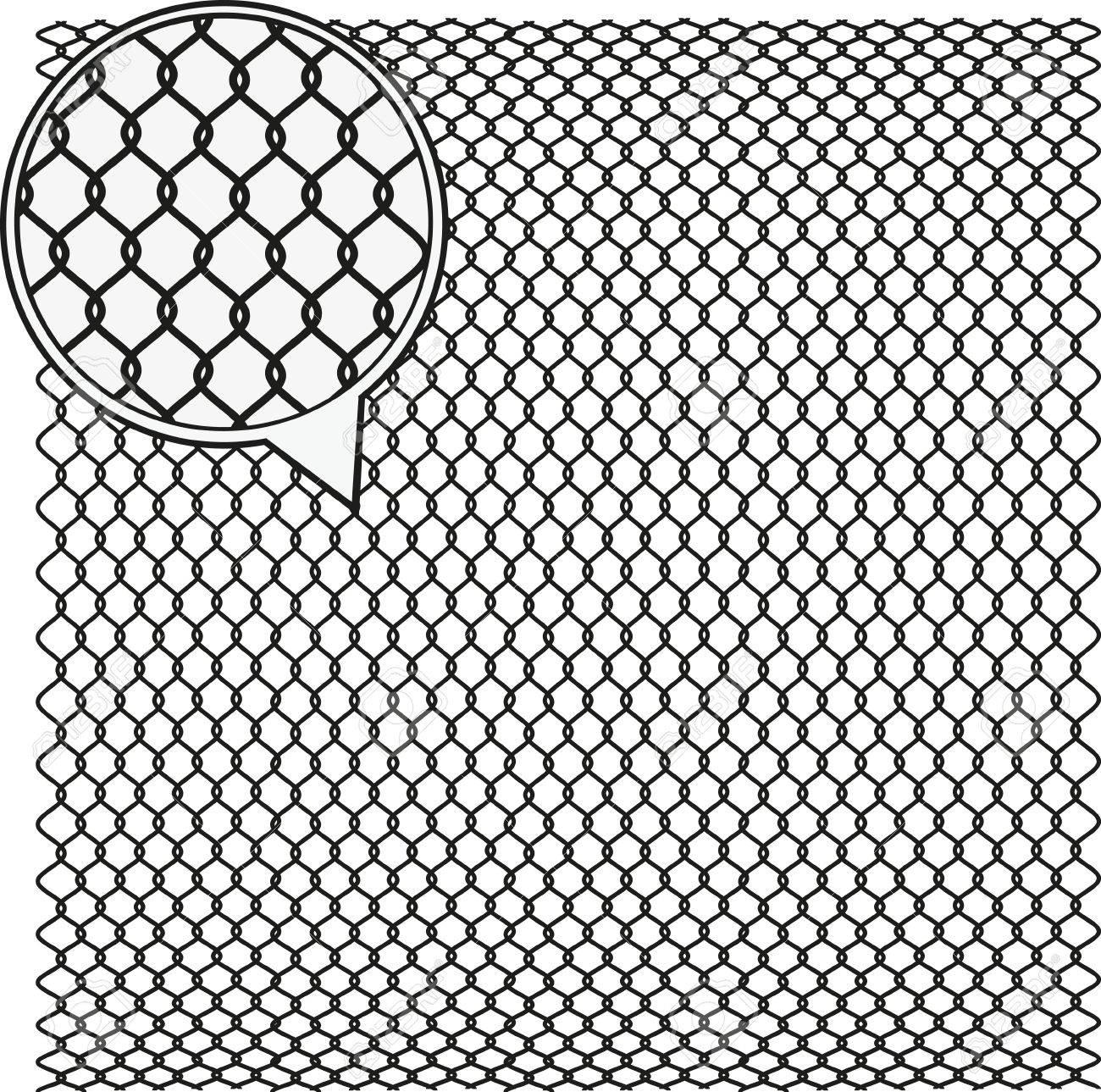 Steel Wire Texture - Octagon Background. Vector Illustration ...