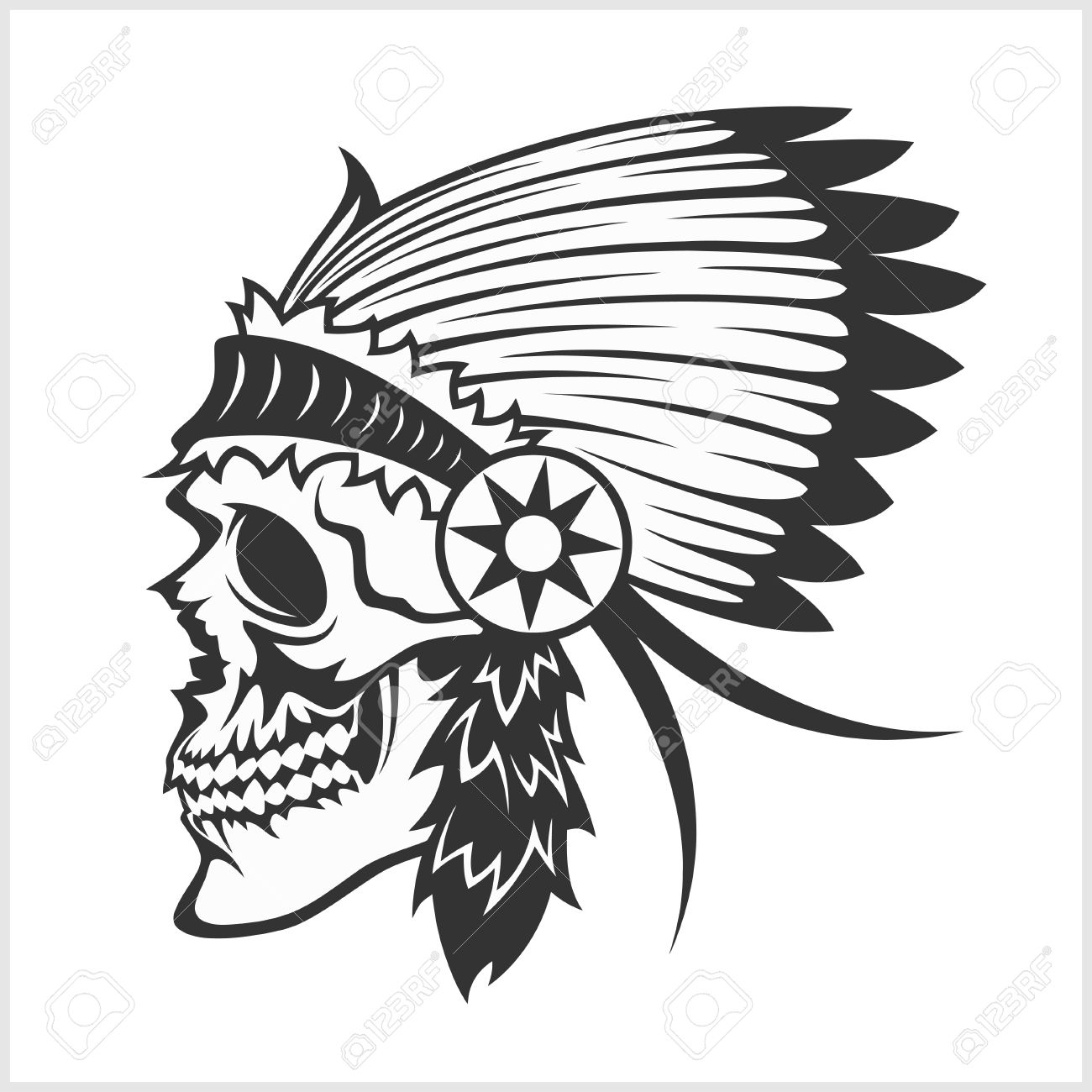 Native American Indian Chief Headdress - Indian Chief Mascot ...
