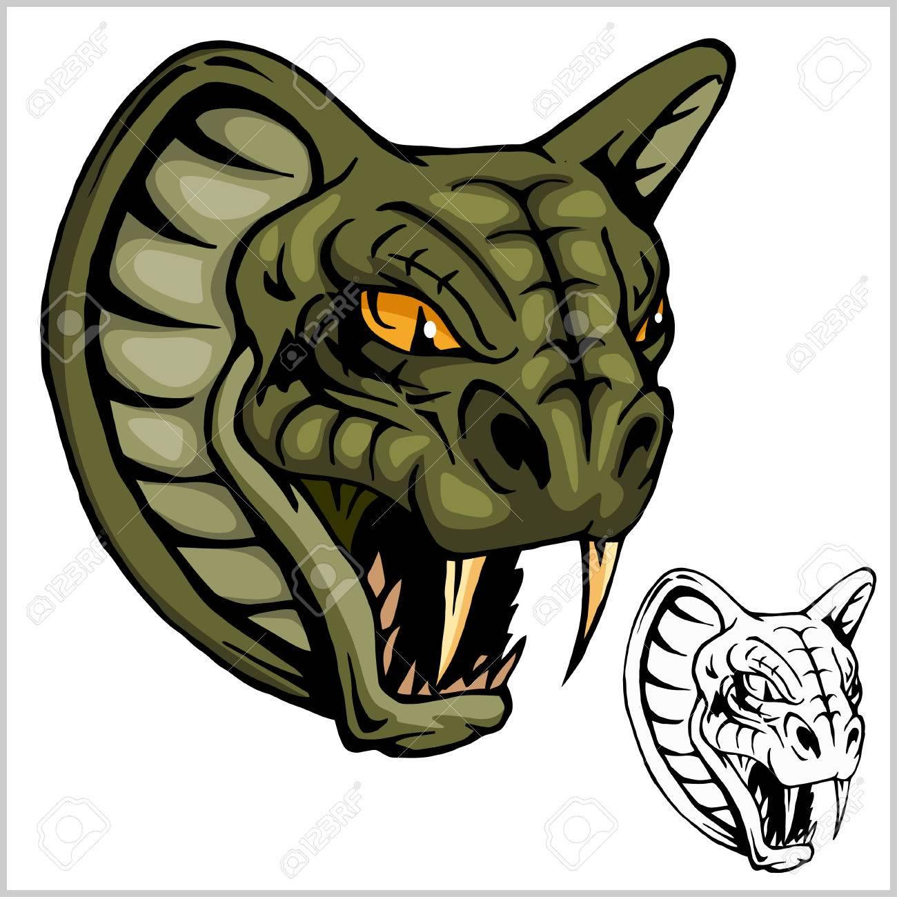 Cobra Head Mascot - vector illustration - 73526054