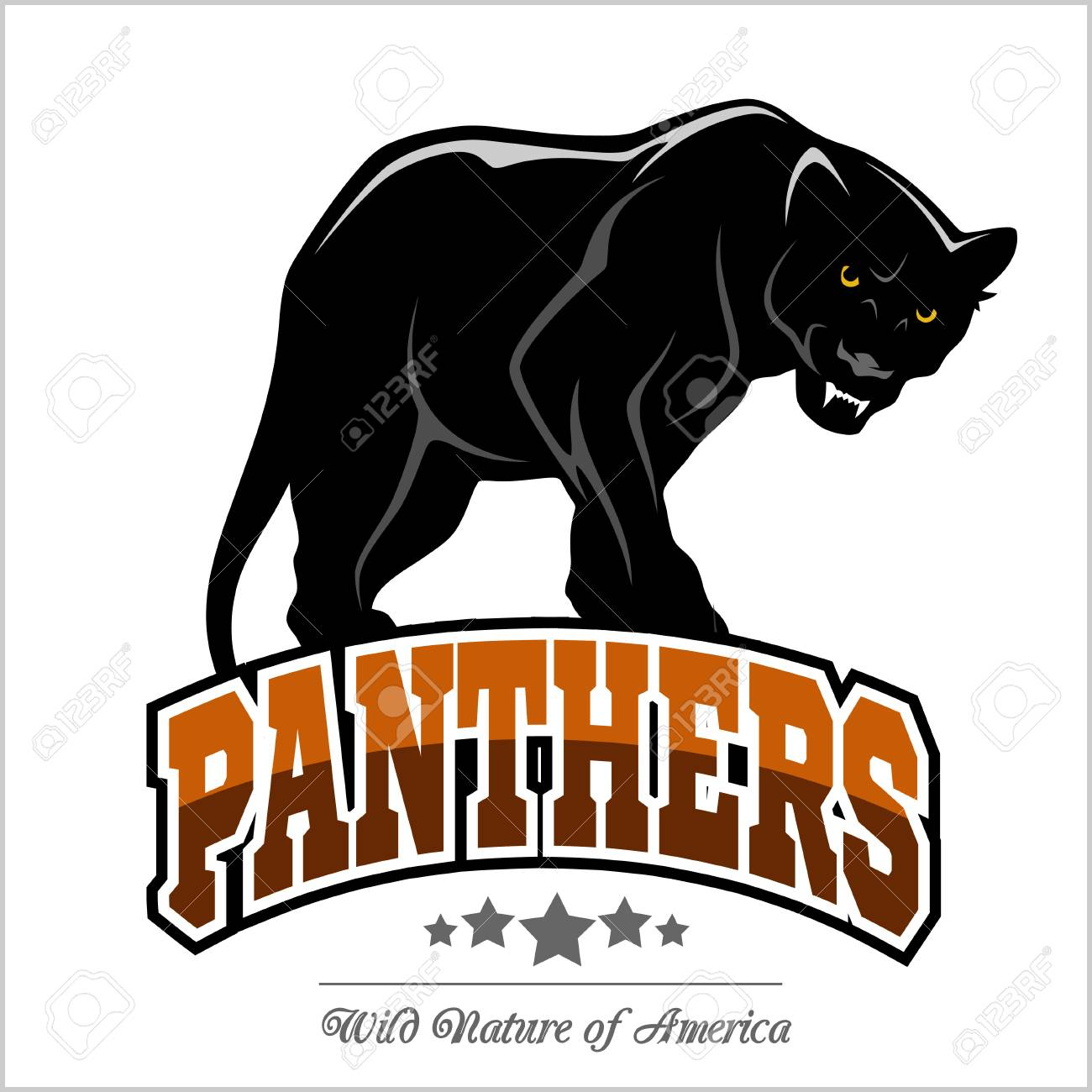 Panthers mascot - vector illustration - 93694294