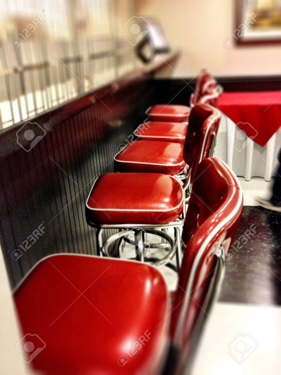 50s Diner Bar Stools Stock Photo Picture And Royalty Free Image